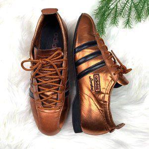 RARE 2004 |•ADIDAS•| Metallic Copper Santos Shoes
